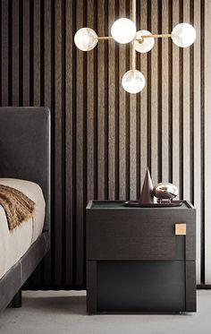 PIANCA Bedroom Lighting, Interior Lighting, Lighting Design, Classic Interior, Modern Interior, Hotel Boutique, Bedroom Cabinets, Wooden Bedside Table, Drawer Design
