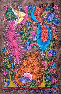 Mexican folk art painting animals 24 ideas for 2019 Mexican Artwork, Mexican Paintings, Mexican Folk Art, Owl Paintings, Tropical Paintings, Painting Art, Art Fantaisiste, Art Mural, Art Espagnole