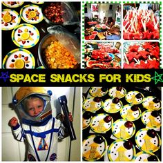 A few weeks ago our church held summer VBS. Our theme this year was focused on space, as in God's love is out of this world! My oldest son and I made snacks