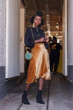 Feel like royalty in our liquid gold velvet midi wrap skirt. Wrap and tie this skirt the way you want to wear it girl. Team this ultra soft velvet skirt with a pair of strappy heels and a bodysuit for a flawless evening look. Midi Wrap Skirt, Velour Fabric, Velvet Skirt, Long Ties, Liquid Gold, Strappy Heels, Sequin Skirt, Royalty, Bodysuit