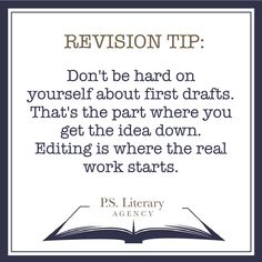 A #revisiontip on first drafts for those who need some #amwriting encouragement.
