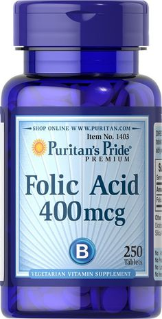 Puritan's Pride Folic Acid 400 mcg-250 Tablets * Find out more about the great product at the image link.