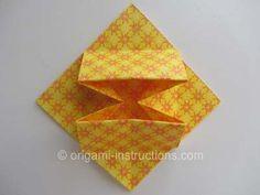 Origami Square Star Box Step 18