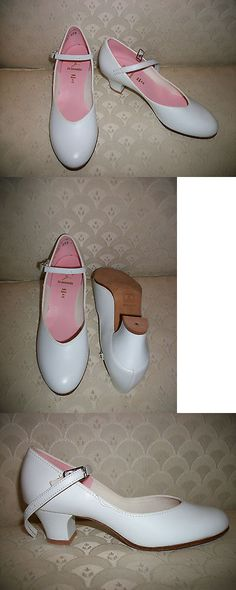 """Character Shoes ch//ladies Tan #3504 Leathersole 1.5/"""" heel Musical theater"""