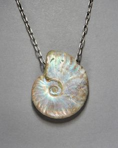 Gorgeous Ammonite Fossil Necklace.