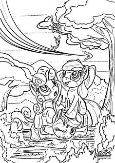 Applejack My Little Pony Friendship Is Magic Coloring In Pages