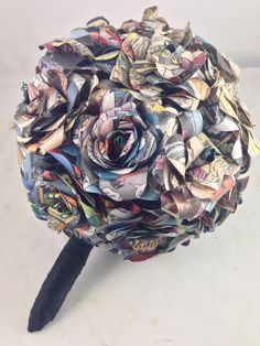 Comic Book Wedding Bouquet Wedding Bouquet made out of by glamMKE, $210.00