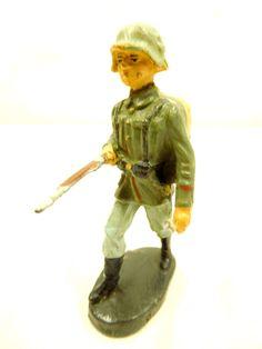 ELASTOLIN Masse Figur Militärfigur Aufstellfigur Soldat 2.WK Höhe ca.7,5 cm /911   eBay