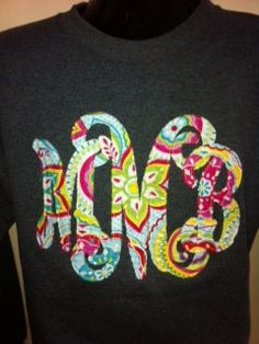 Applique Monogram Sweatshirt Adult/CLEARANCE by LollypopKids1998, $22.99