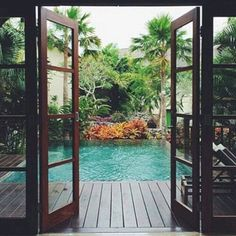 A swimming pool is one of the favorite places to refresh our mind. It is no wonder that people will seek the resort with modern and luxurious swimming pool to spend their vacation. A nice swimming pool design will require . Small Backyard Design, Small Backyard Pools, Small Pools, Backyard Designs, Backyard Ideas, Small Pool Ideas, Pool Decks, Backyard Patio, Outdoor Pool