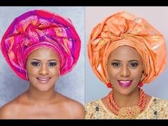How to tie Ayaba Royal Queen gele - full tutorial (Head gear) - YouTube