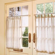 Pinch pleat cafe curtains tutorial