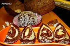 Figy mandľami plnené v kokosovom orechu schované (fotorecept)