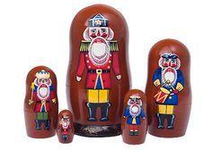 Slavic Nutcracker Soldier-Nesting dolls