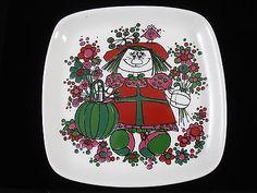 Porcelain Plate Pin Dish Norway Norwegian Kirsten Design Dora Stavangerflint