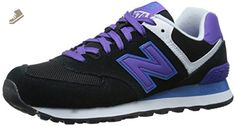 New Balance Women's WL574 Core Plus Pack Running Shoe, Black/Purple, 12 B US - New balance sneakers for women (*Amazon Partner-Link)