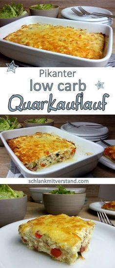 Pikanter low carb Quarkauflauf Ich liebe diese schnellen Rezepte. Für diesen eiweißreichen Quarkauflauf könnt ihr auch prima Reste verwenden. Statt Paprika und Zucchini verwenden wir auch gerne Tom…