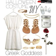 Diy halloween costume greek goddess halloween costume ideas a fashion look from october 2014 featuring madewell dresses dollhouse sandals and charlotte russe rings diy greek goddess costumegreek solutioingenieria Choice Image