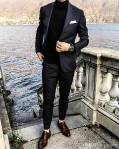 Black Men Tuxedos Groom Wedding 2019 Classic Fit Notched Lapel Back Vent One Button Cuff Men Suits Mens Prom Tuxedos Suits(Jacket Pants) - homme Prom For Guys, Prom Suits For Men, Suit For Men, Prom Outfits For Guys, Work Outfits, Guys In Suits, Black Prom Suits, Formal Attire For Men, Grey Suit Men