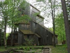 The Arribere - Johnson, VT  10 private acres in the woods overlooking stream and gorge.REALLY interesting Scandinavian layout. Hot tub and sauna house. 1 Hour to Burlington $1800/week More info: http://www.vermontproperty.com/detail/Vermont/stowe-rentals/503/#.UaV_CaLbPSg