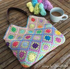 Happy Bag by BautaWitch - en blomsteräng att bli glad av varje dag!  Gratis mönster i bloggen och materialkit i webbshoppen!