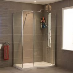 £259.00 1400 x 900 Right Hand Walk In Enclosure with Shower Tray