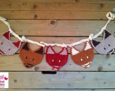 Crochet Fox Garland Pattern