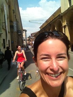 """Pic snapped cycling through Reggio Emilia with the lovely ladies at ‪#blogville‬"" by @HeleneLohr"