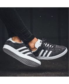 Adidas Gazelle Grey White Trainer Adidas Outfit 2c6e4a88635ca