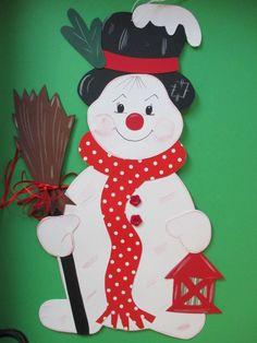 Fensterbild*Tonkarton*Weihnachten*Winter* Schneemann Zack *Deko*Kinder 3