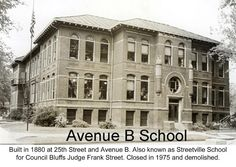 My parents both went to this Council Bluffs Avenue B school