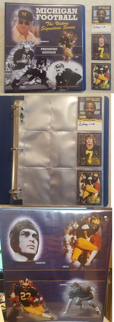 College Cards 133072: Michigan Wolverines Tk Legacy Binder W Anthony Carter Auto Premier Edition -> BUY IT NOW ONLY: $53.95 on eBay!