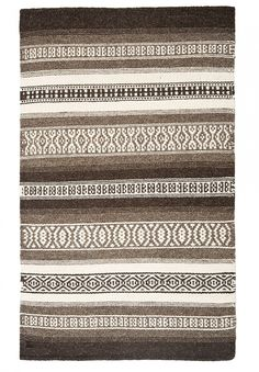 Tunis Natural Wool Woven Rug - Hook & Loom 6x9 $400