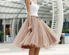 Tulle del tutú de la falda de la princesa boda de la falda de Nude.
