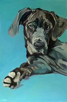 Talkin' Bout My Friend George Great Dane by Evelyn McCorristin Peters♥♥