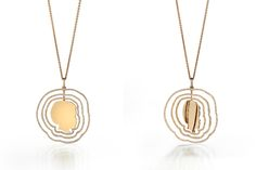 Mia Diamonds 14k Solid Yellow Gold Pretzel Pendant 21mm x 15mm