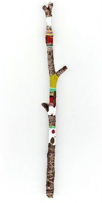 decorated twig from cursive design. adorable!