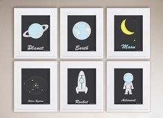 Outer Space Printable Solar System Wall Art by paperpandaKIDS