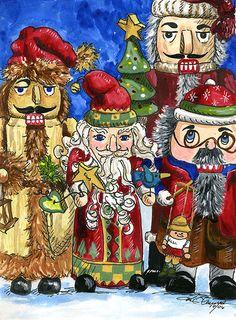 Santa nutcrackers