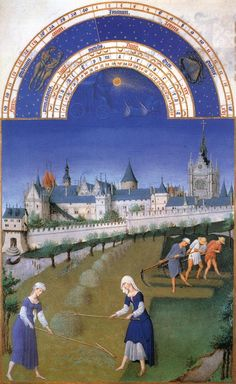 Limbourg Brothers: June, from the Tres Riches Heures de Jean Duc de Berry