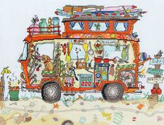 Cut Thru Camper Van cross stitch kit - Bothy Threads