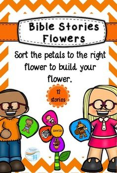 Bible stories flowers Sort the petals to the right flower to build your flower. Children Ministry, Bible Stories, Sunday School, Flowers, Florals, Flower, Blossoms