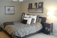 Yummy color grey and comforter is pretty!