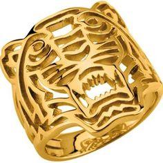Bague dorée Kenzo