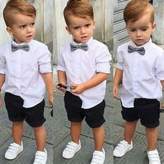 Our baby boy dress & newborn attire are definitely lovely. Trendy Boy Outfits, Outfits Niños, Trendy Baby Boy Clothes, Boys Summer Outfits, Kids Clothes Boys, Little Boy Outfits, Kids Outfits, Kids Clothing, Baby Boy Dress Clothes