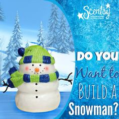 Scentsy Snowman Warmer!  Available October 1, 2014 while supplies last!