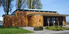 Maastunnel gebouw ontworpen door Adrianus van der Steur.