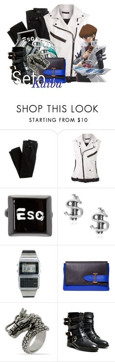 """""""Seto Kaiba from Yu-Gi-Oh"""" by magykgirlz ❤ liked on Polyvore featuring J.Crew, BLK DNM, ASOS, Tressa, Casio, Isaac Mizrahi and yugioh"""