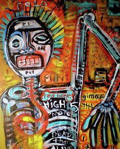 Jean Michel Basquiat Art, Aerosol, Neo-expressionism