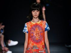 What doRodeoHouston, NASA and New York Fashion Week have in common? Just ask New York fashion designerVivienneTam. She featured the Houston icons in her spring collection Monday at Fashion Week.